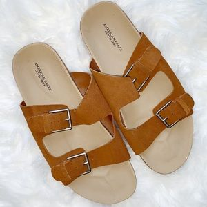 American Eagle Outfitters Double Buckle Sandals